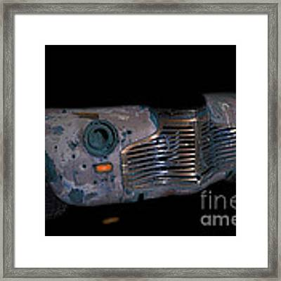 Old Rusty Junk Car In Vivid Colors Framed Print by Gunter Nezhoda