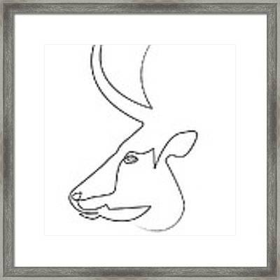 oneline Bull Framed Print
