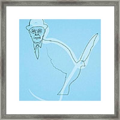 Oneline Magritte Framed Print