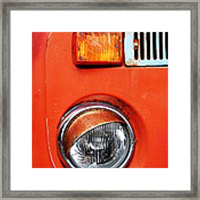 Orange Camper Van Framed Print
