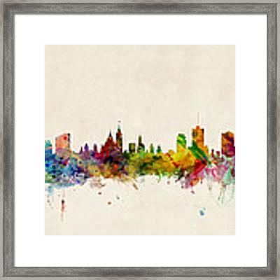 Ottawa Skyline Framed Print by Michael Tompsett