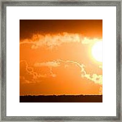 Panoramic Photo Of Sunset At Monkey Mia  Framed Print by Yew Kwang