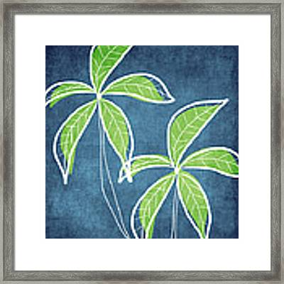 Paradise Palm Trees Framed Print by Linda Woods