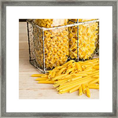 Pasta Shapes Still Life Framed Print