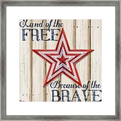 Patriotic Spirit Barn Star I Framed Print