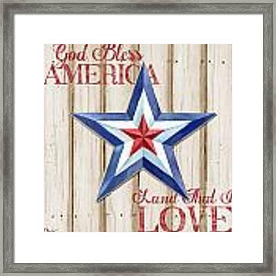 Patriotic Spirit Barn Star IIi Framed Print