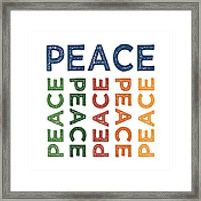 Peace Cute Colorful Framed Print