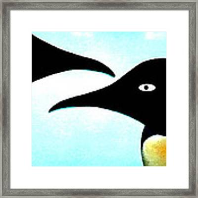 Penquin Love Framed Print by Colette V Hera  Guggenheim