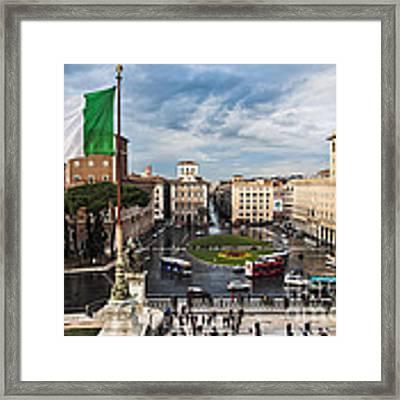 Piazza Venezia Framed Print by John Wadleigh