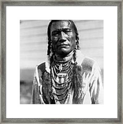 Piegan Indian Man Circa 1909 Framed Print by Aged Pixel