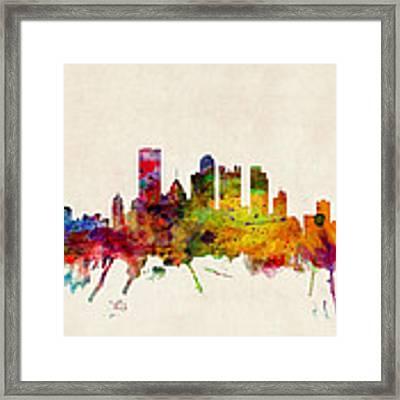 Pittsburgh Pennsylvania Skyline Framed Print by Michael Tompsett