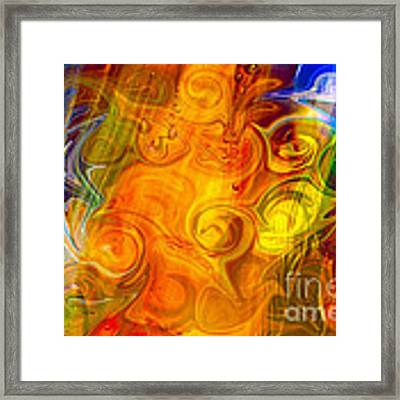 Playing With Bubbles Textured Abstract Artwork By Omaste Witkows Framed Print by Omaste Witkowski