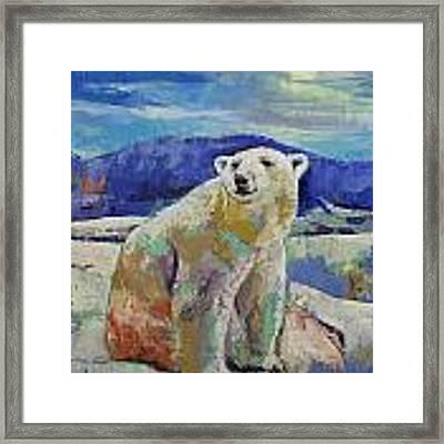 Polar Bear Sun Framed Print