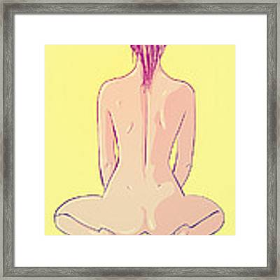 Ponytail Framed Print by Giuseppe Cristiano
