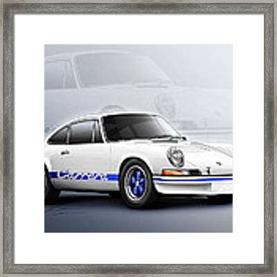 Porsche 911 Rs 1973 Framed Print