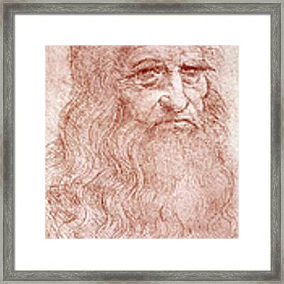 Portrait Of A Bearded Man Framed Print