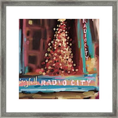 Radio City Music Hall Christmas New York City Framed Print