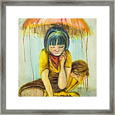 Rain Day  Framed Print by Angelique Bowman