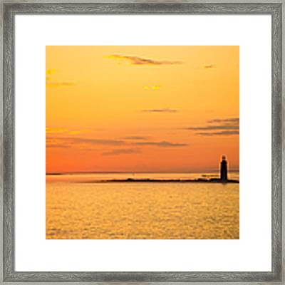 Ram Island Light Casco Bay Maine Framed Print by Diane Diederich