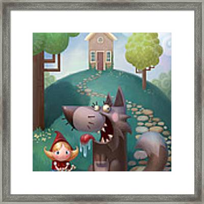 Red Riding Hood Framed Print by Adam Ford