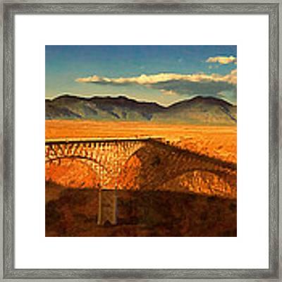Rio Grande Gorge Bridge Heading To Taos Framed Print by Douglas MooreZart