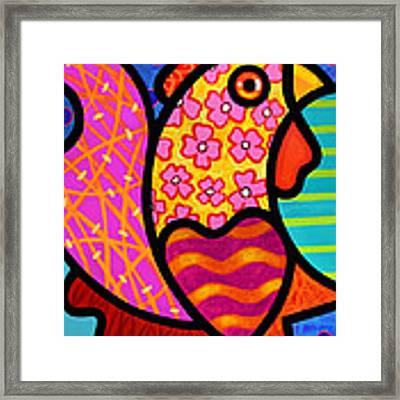 Rooster Dance Framed Print by Steven Scott