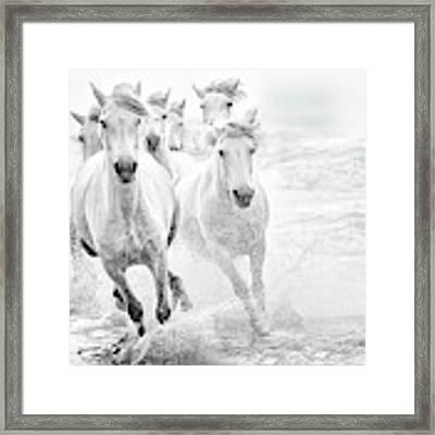 Running In The Sea Framed Print