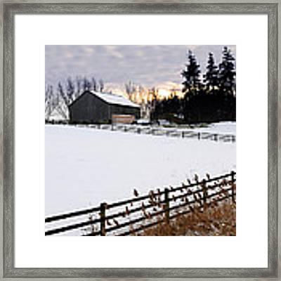 Rural Winter Landscape Framed Print