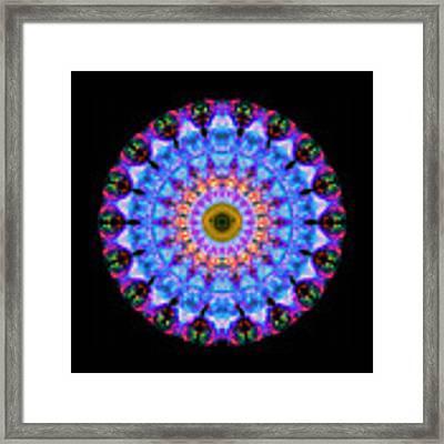 Sacred Crown - Mandala Art By Sharon Cummings Framed Print