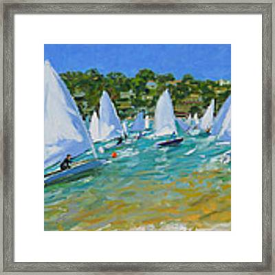 Sailboat Race Framed Print by Andrew Macara