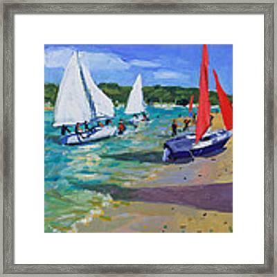 Sailing Boats Framed Print by Andrew Macara