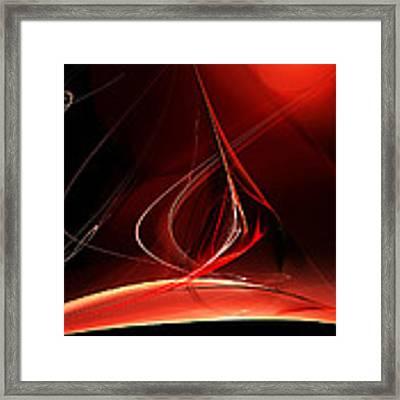 Sailing With The Firewind Framed Print by Menega Sabidussi