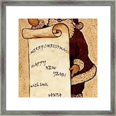 Santa Wishes Digital Art Framed Print by Georgeta  Blanaru