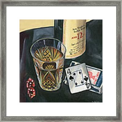 Scotch And Cigars 2 Framed Print by Debbie DeWitt