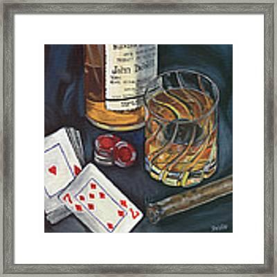 Scotch And Cigars 4 Framed Print by Debbie DeWitt