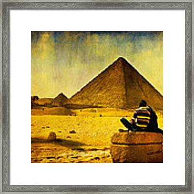 See The Pyramids - Egyptian Adventure Framed Print by Mark E Tisdale