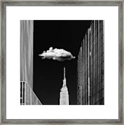 Single Cloud Framed Print by Jackson Carvalho
