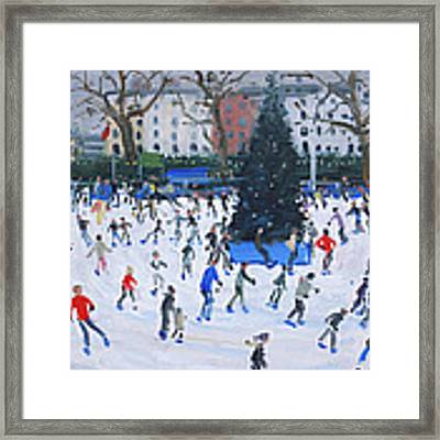 Skating  Natural History Museum Framed Print by Andrew Macara