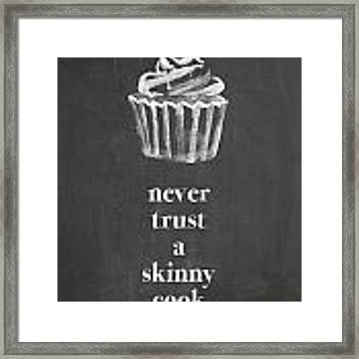 Skinny Cook Framed Print by Nancy Ingersoll