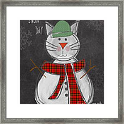 Snow Kitten Framed Print