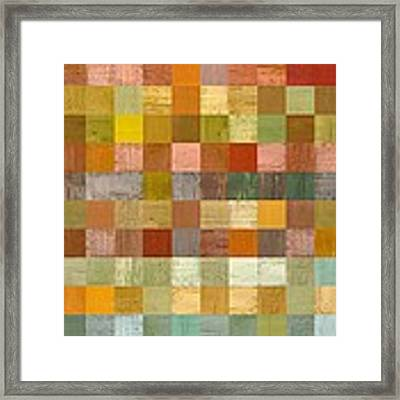 Soft Palette Rustic Wood Series Lll Framed Print