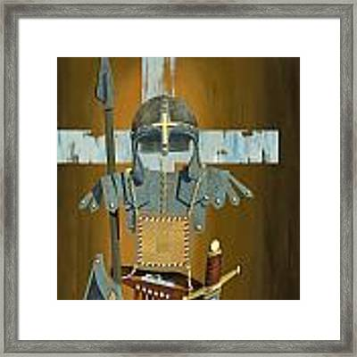 Soldier For The Cross Framed Print by John Wyckoff