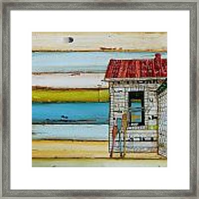 Southern Maine Beach Shack Framed Print