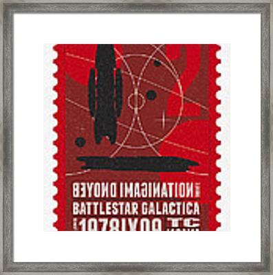 Starschips 02-poststamp - Battlestar Galactica Framed Print
