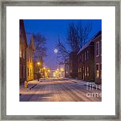 State Street Star Framed Print by Susan Cole Kelly