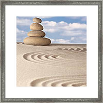 Stone Balance Framed Print by Dirk Ercken