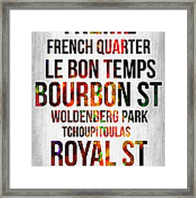 Streets Of New Orleans 1 Framed Print by Naxart Studio