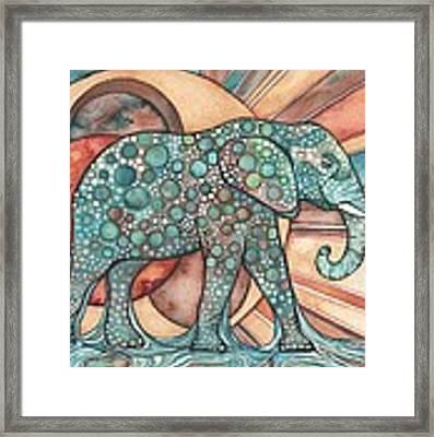 Sunphant Sun Elephant Framed Print