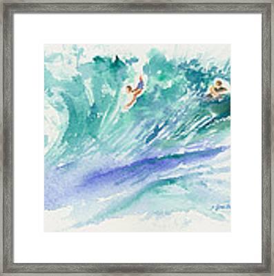 Surf's Up Framed Print by Lynn Buettner