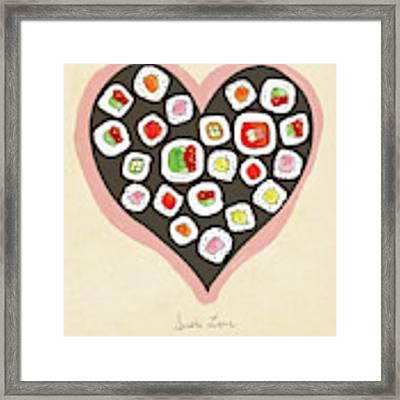 Sushi Love Framed Print